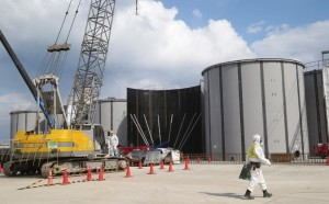 Welded tanks are shown above ground at the Fukushima Daiichi nuclear power plant on March 10, 2014, nearly three years after the plant was paralyzed by the March 11 earthquake and tsunami in 2011